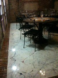 RV 050 Resina Top Art Clear a finitura su Pavimento Ristorante